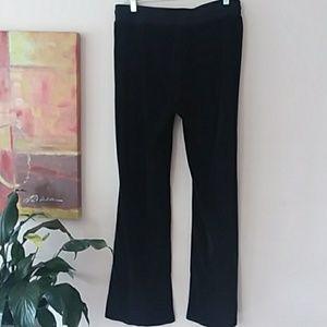 BCBGMaxAzria Pants - BCBG black velvet jeweled straight leg sweatpants
